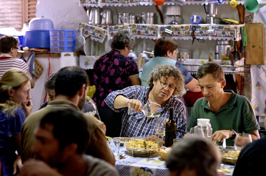 Dirk Niepoort beim Essen