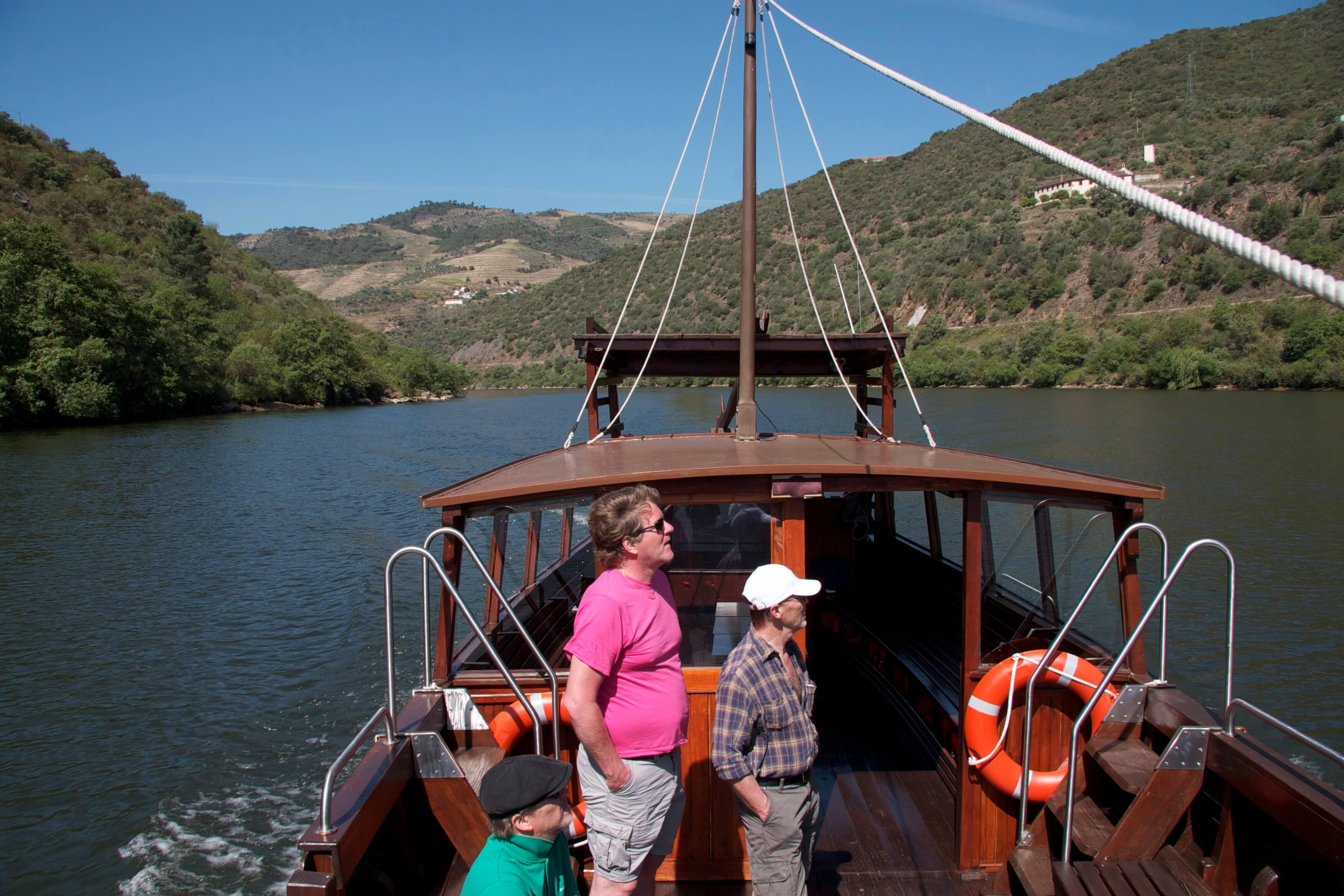 Douro Fluss Bootsfahrt Rabelos Wind im Haar
