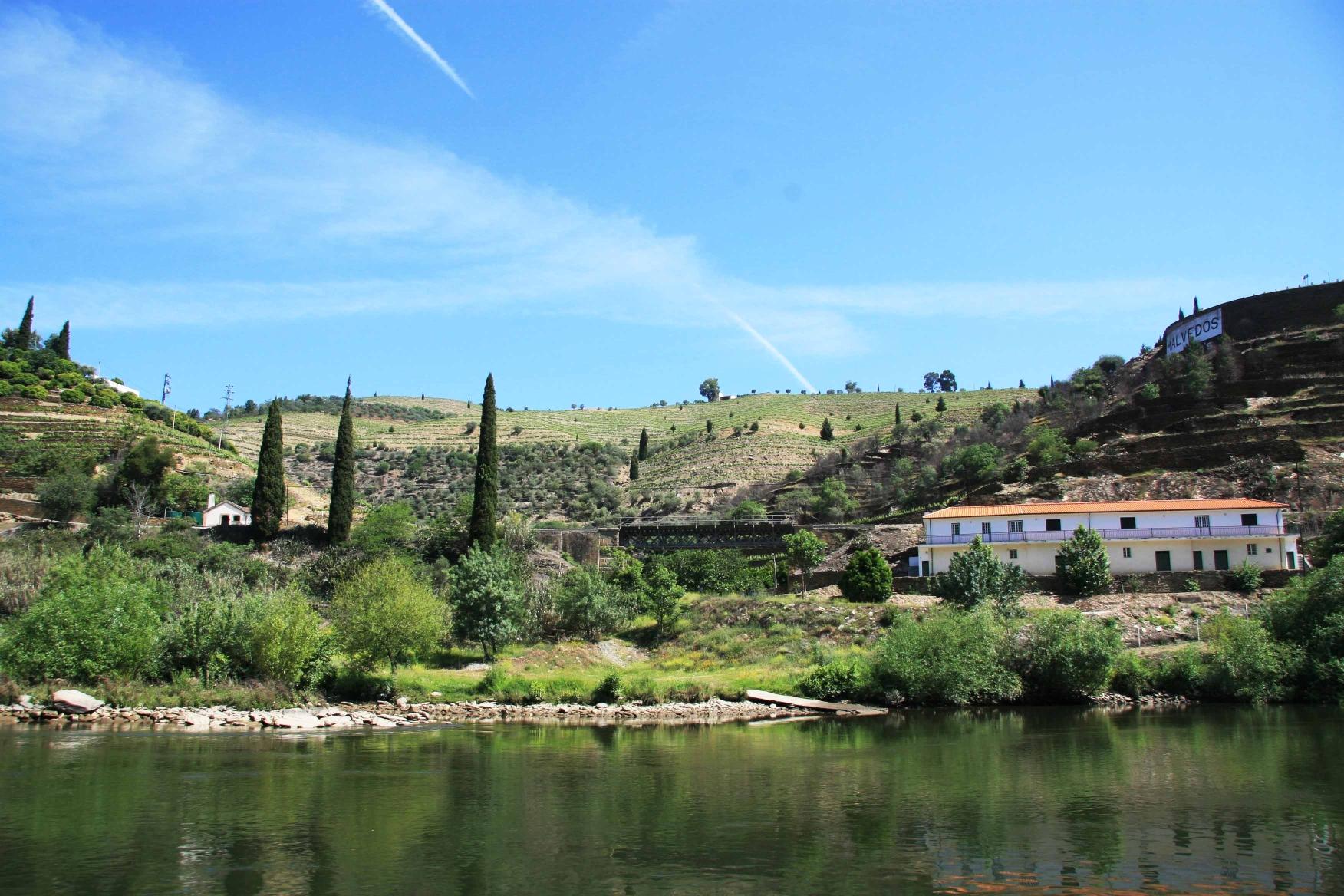Flussfahrt auf dem Douro mit Blick auf die Eisenbahnbrücke