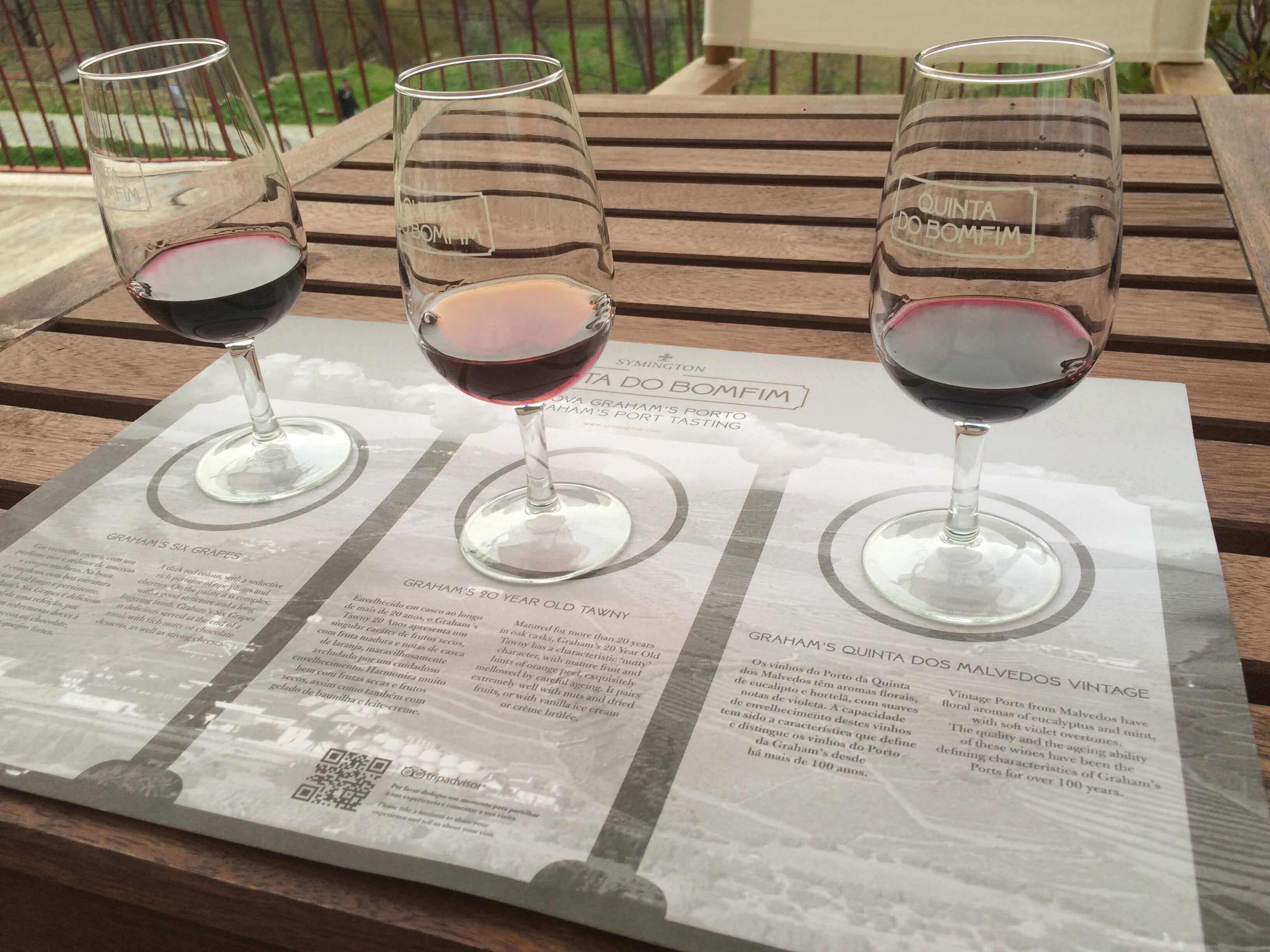Portwein in verschiedenen Farben