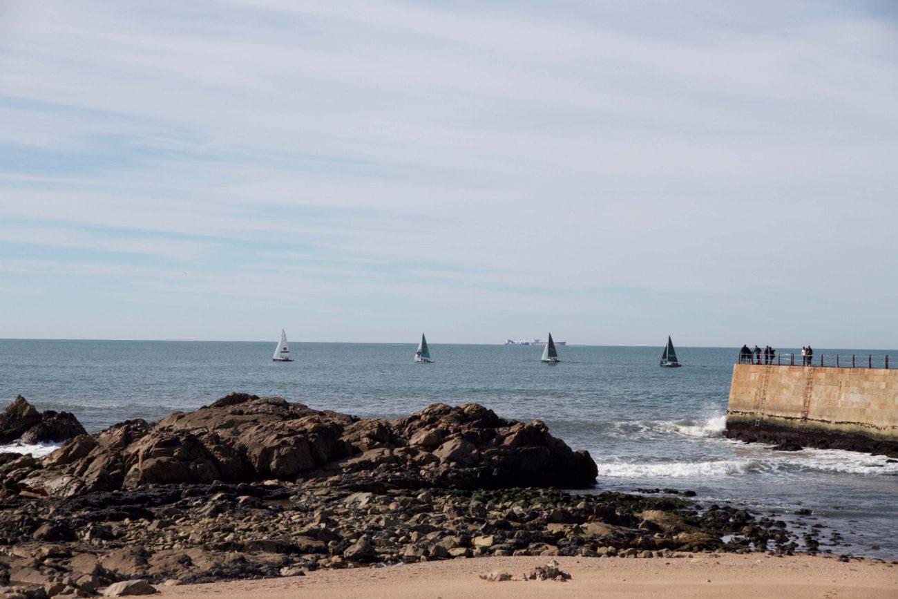 Portugal Porto Foz Strandspaziergang