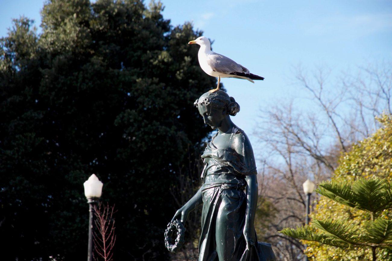 Portugal Porto Sightseeing Park Kristallpalast Statuen