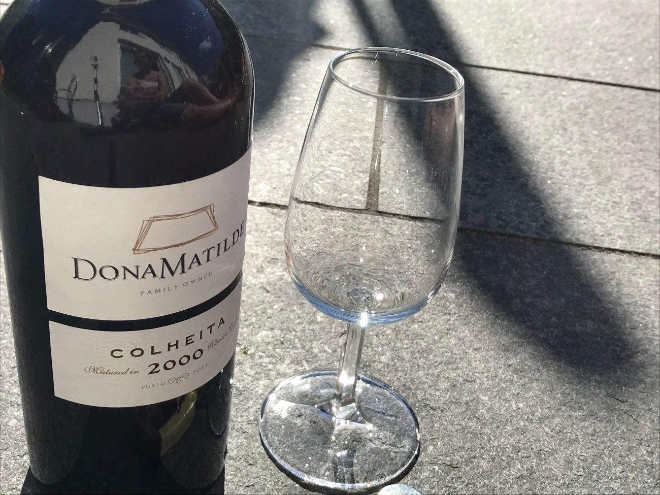 Portugal Fussballweltmeisterschaft Portwein trinken Dona Matilde Colheita 2000