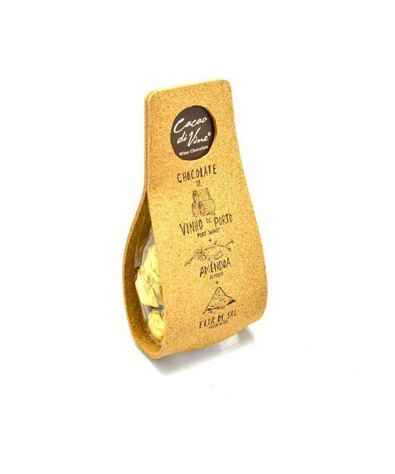 Portwein Schokolade mit Meersalz und Mandeln von Cacao di Vine