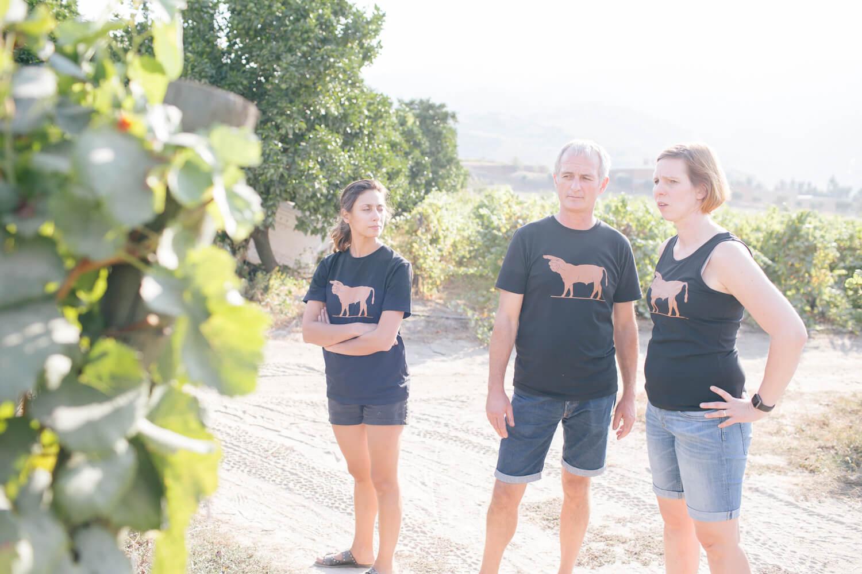In den Weinbergen der Quinta de Tourais unterwegs mit Fernando Coelho - er macht den Wein Touronio