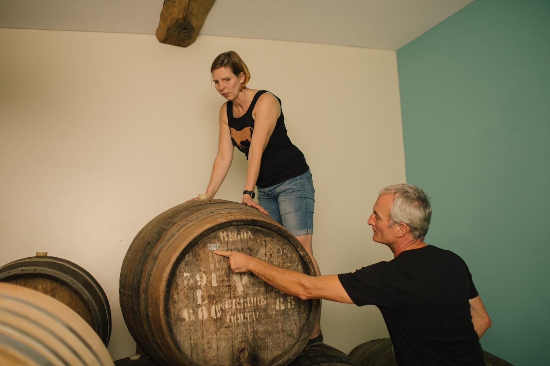 Im Weinkeller mit Fernando Coelho von der Quinta de Tourais