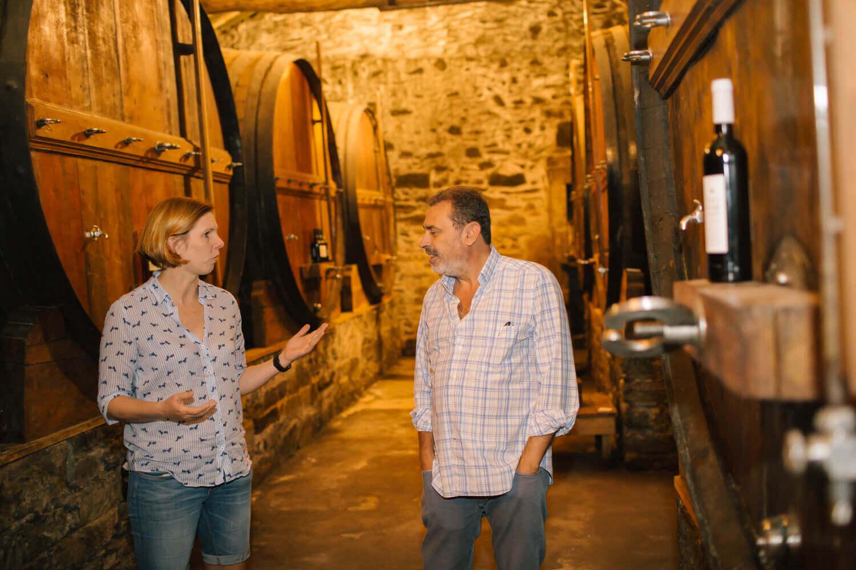 """Miguel Braga zeigt seinen Weinkeller """"Port Knox"""" seiner Quinta do Mourão"""