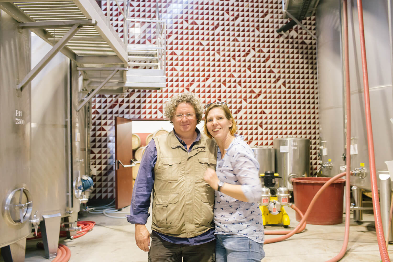 Im Weinkeller der Niepoorts in Vale de Mendiz im Douro-Tal mit Dirk Niepoort
