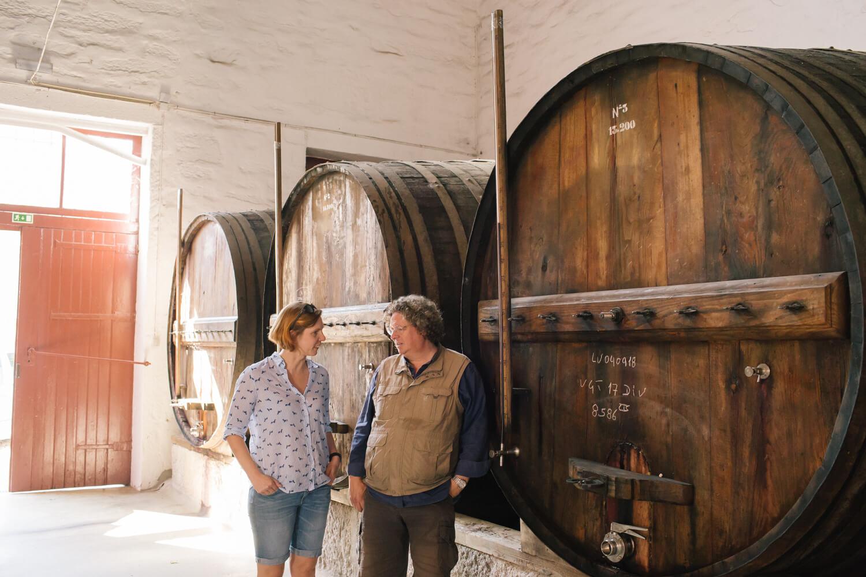 Im Gespräch mit Dirk Niepoort im Weinkeller in Vale de Mendiz im Douro-Tal