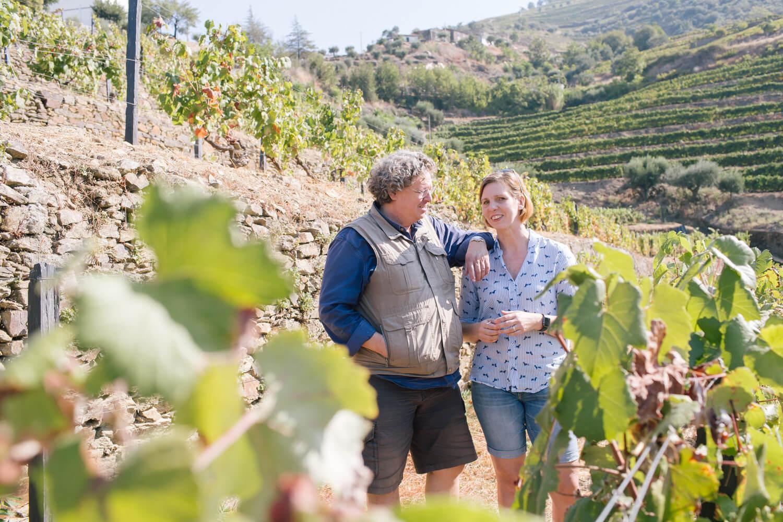 Netter Plausch mit Dirk Niepoort in den Weinbergen bei Vale den Mendiz im Douro-Tal