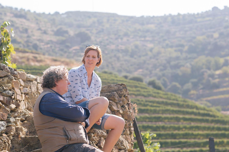 Im Gespräch mit Dirk Niepoort in den Weinbergen in Vale de Mendiz mit einem tollen Blick ins Douro-Tal