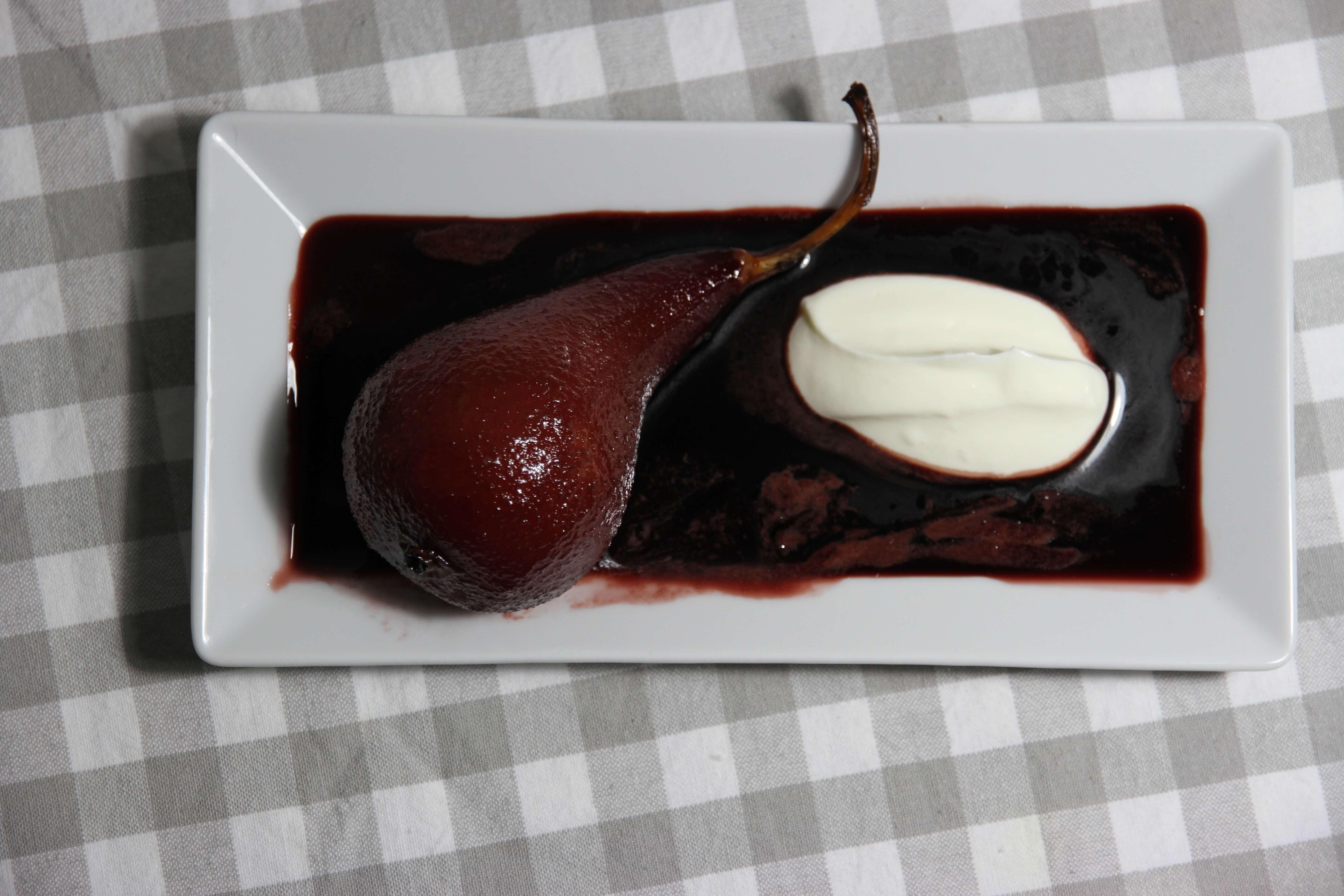 Rezept: Besoffene Birnen mit Portwein