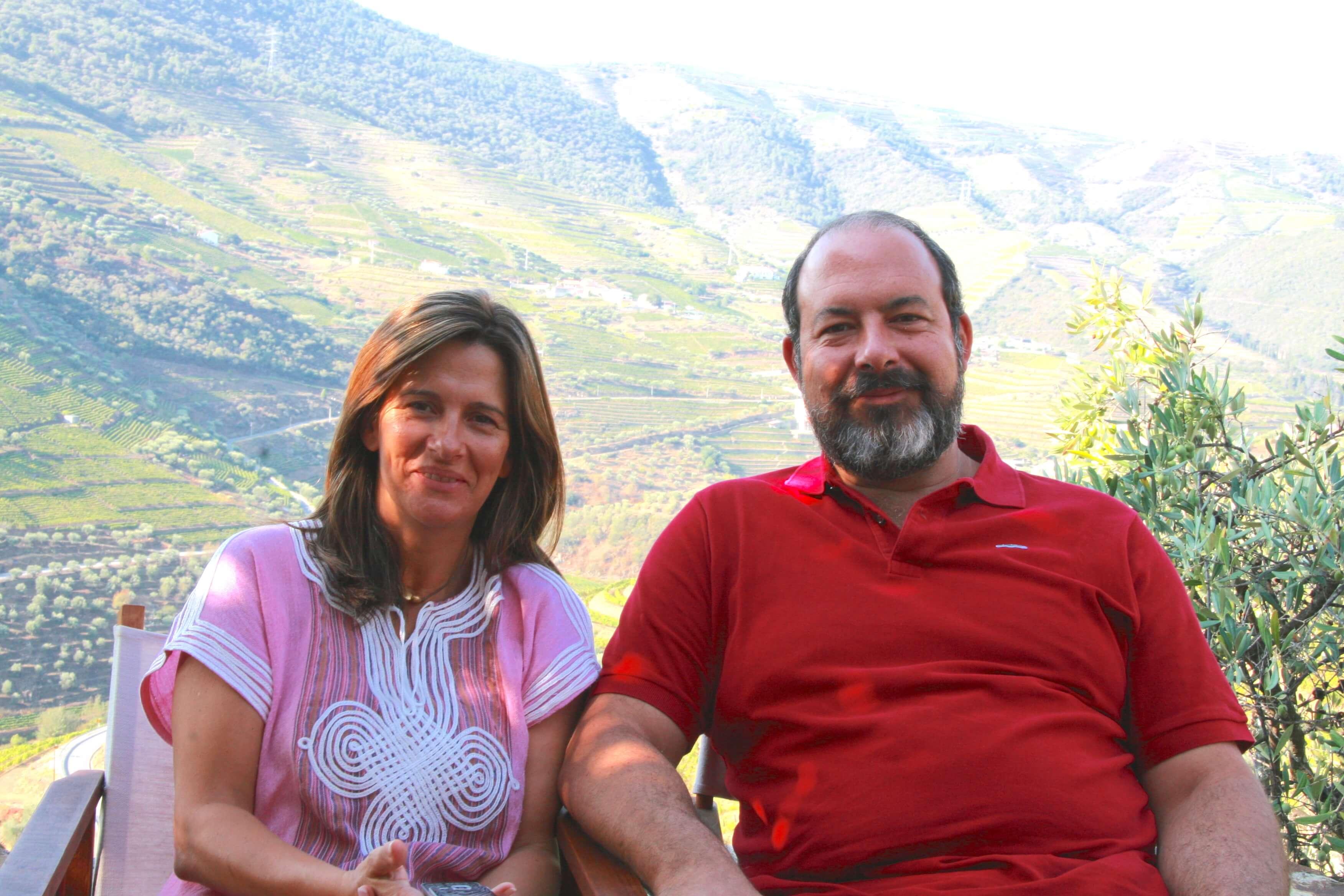 Cristiana van Zeller mit seiner Frau auf seiner Quinta Vale D. Maria im Douro-Tal in Portugal