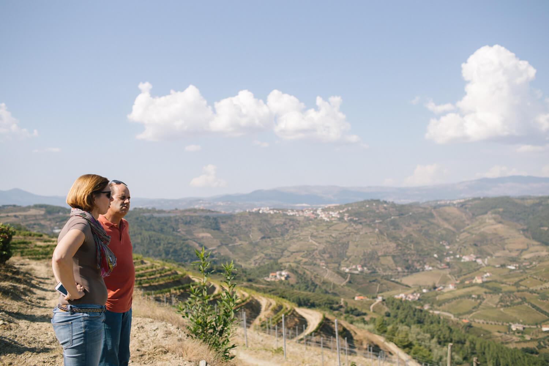Blick über das Douro-Tal von der Quinta da Prelada