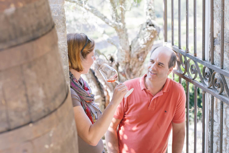 Weinprobe im Garten der Quinta da Prelada