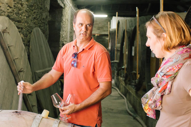 Weinprobe direkt aus dem Fass auf der Quinta da Prelada