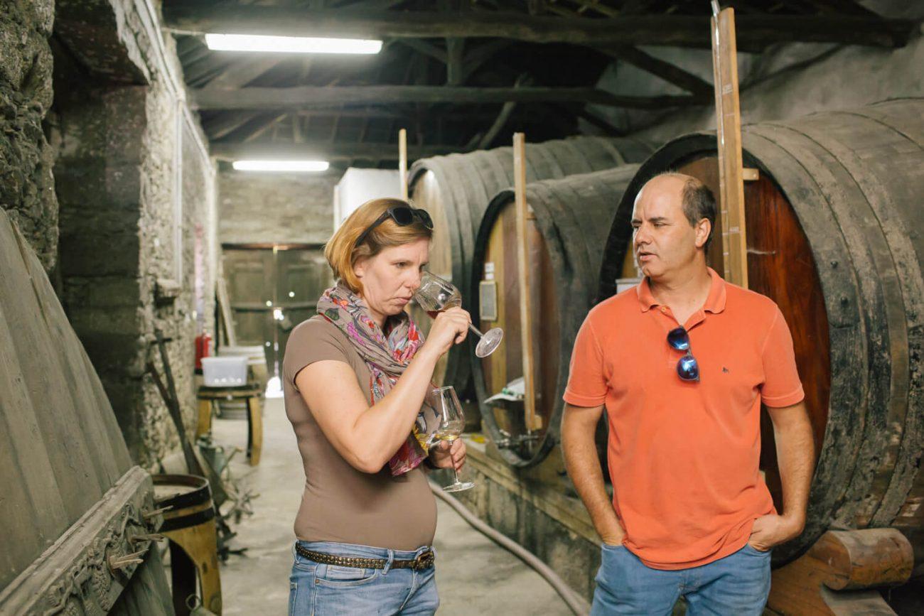 Portweinprobe auf der Quinta da Prelada